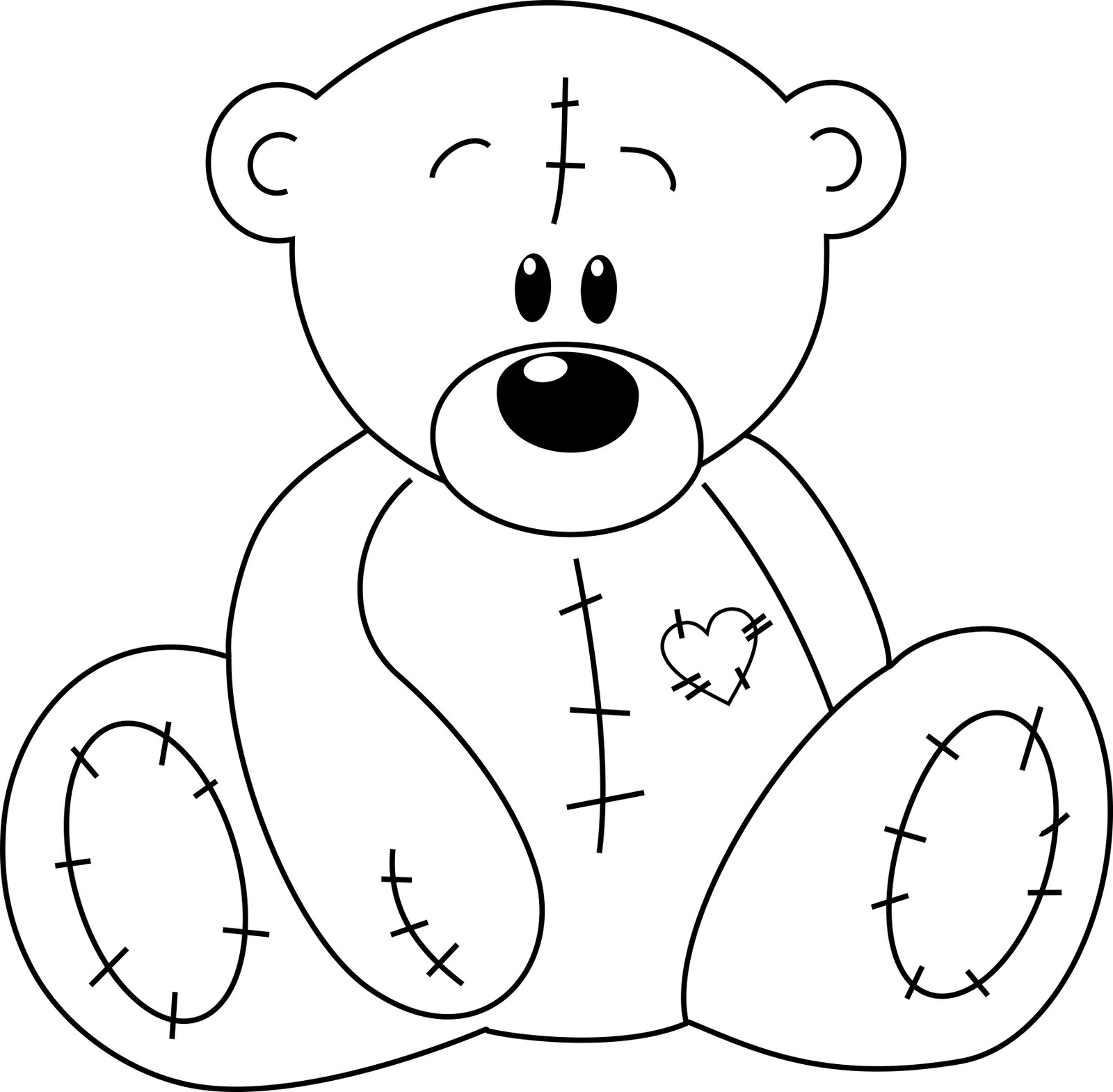 Outline Of Teddy Bear.