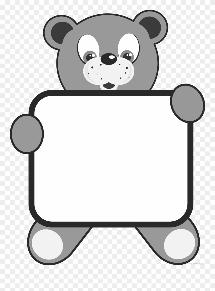 Teddy Bear Animal Free Black White Clipart Images Clipartblack.