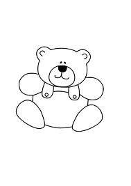 teddy bear clip art black and white.