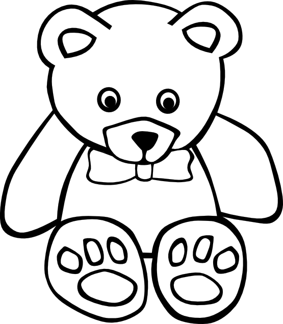 Free Teddy Bear Black And White, Download Free Clip Art, Free Clip.