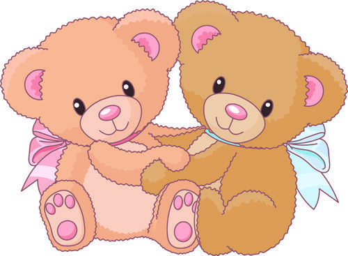 Vintage bear clip art free file cute teddy bear vector.