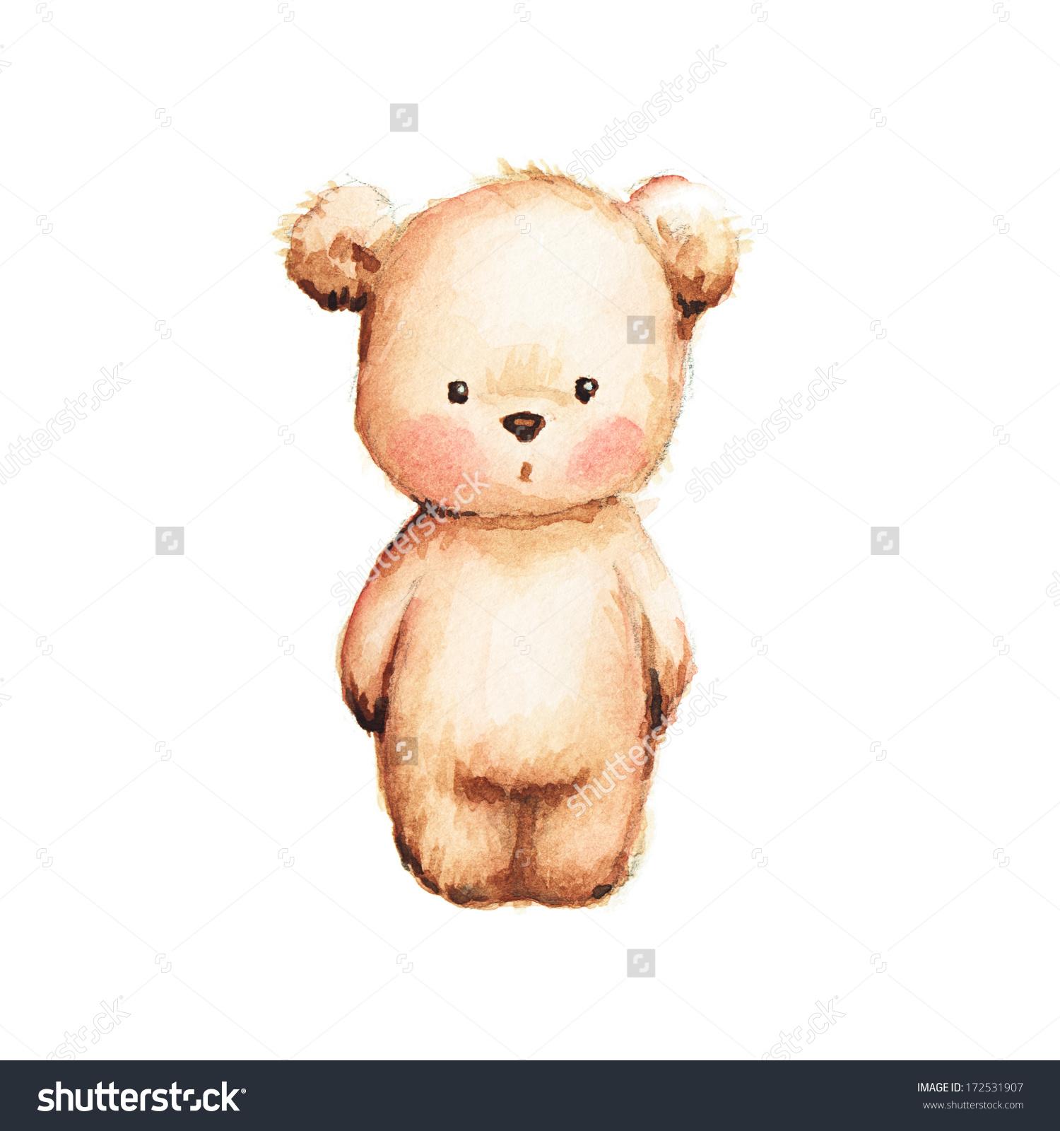 how to draw a cute bear step 6. teddy bear colorful ...