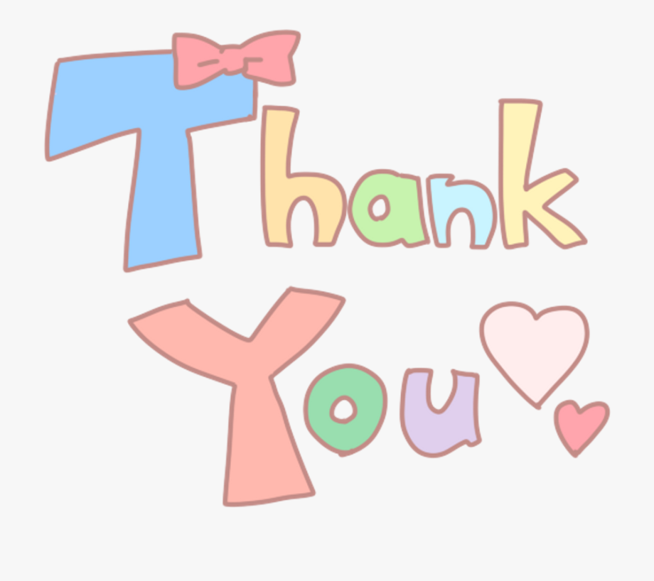 Cute Thank You Word Clipart , Png Download, Cliparts.