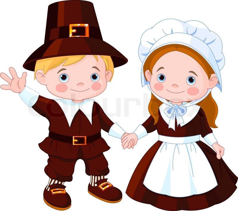 Images: Pilgrims Kids Clipart.