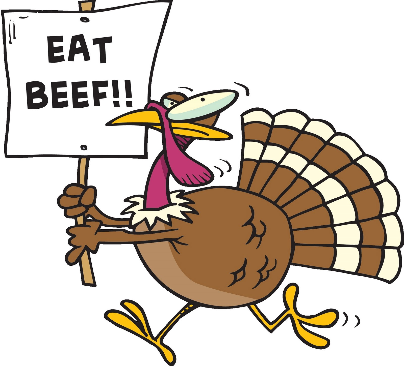 Funny Thanksgiving Turkey Clipart.
