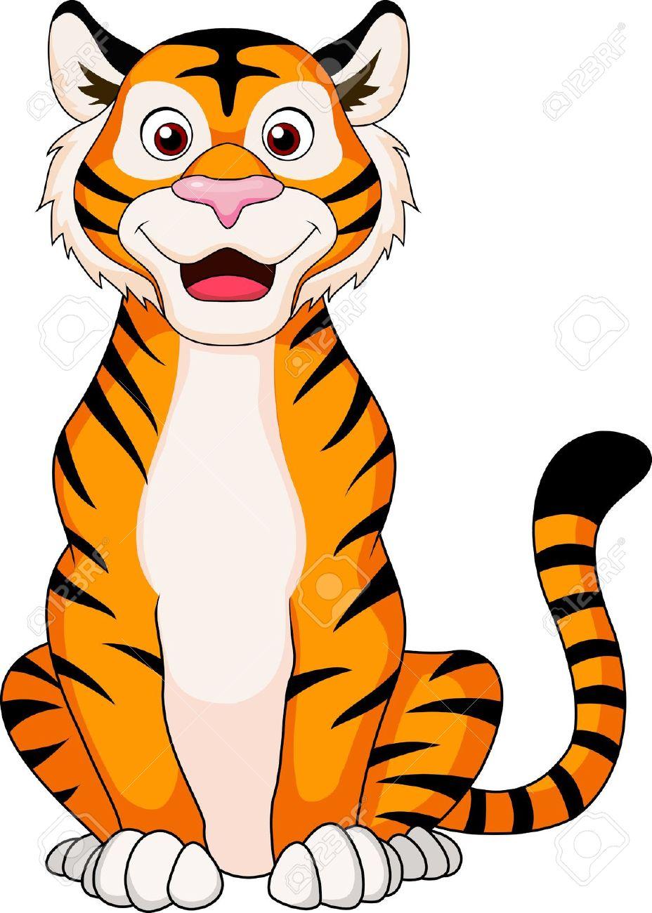 6+ Cute Tiger Clipart.