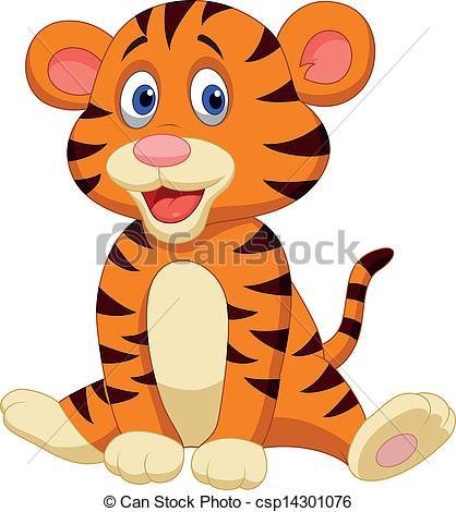Cartoon Tiger Clipart Cute Image Csp14301076 Fancy Prestigious 12.