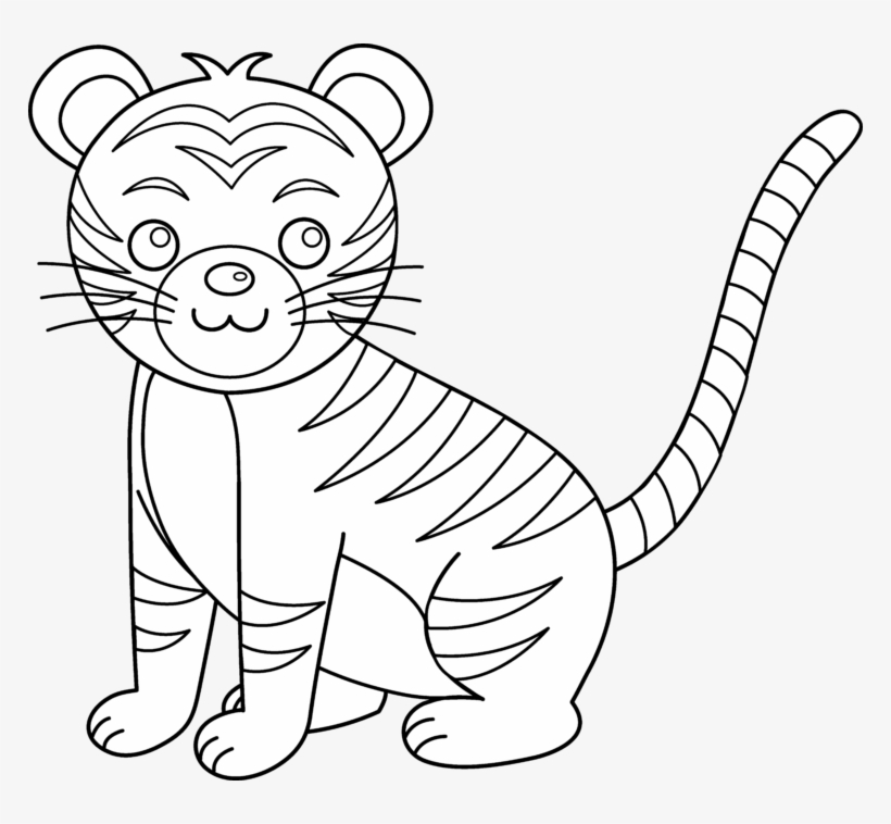 Cub Clipart Black And White.