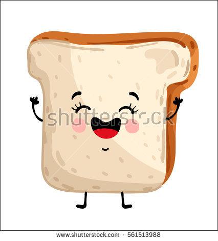 Toast Cartoon Stock Images, Royalty.
