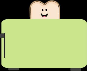 Toast In Toaster Clip Art.