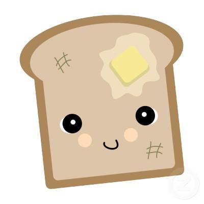 cute toast.