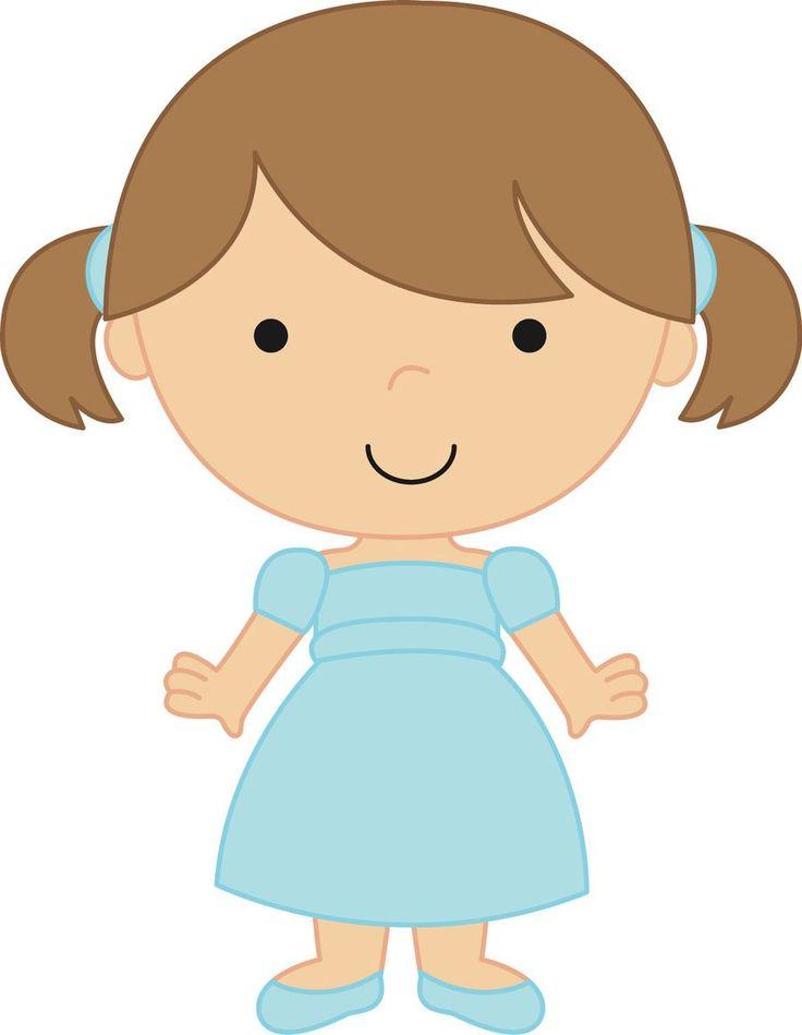 Girl Toddler Clipart.