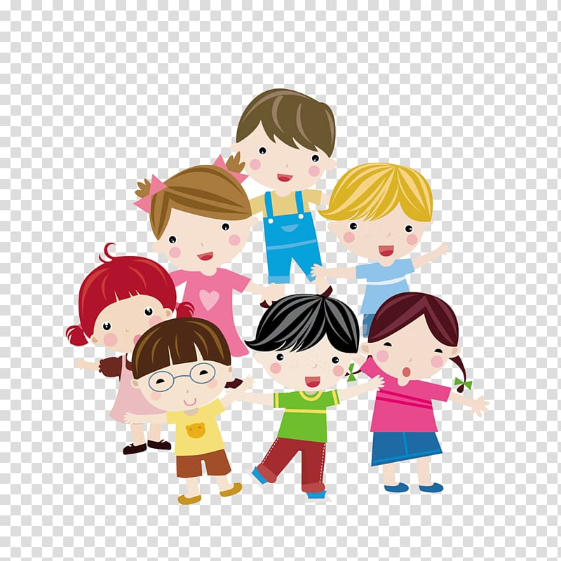 Group of children illustration, Child Euclidean Illustration.