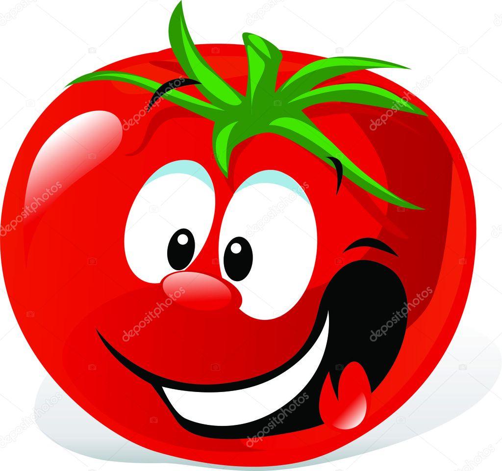 Funny cartoon cute tomato — Stock Vector © legendfox #11592160.