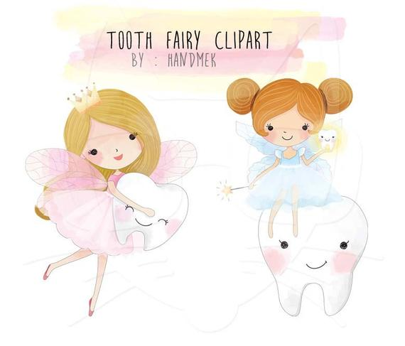 Cite tooth Fairy Clipart , Fairy clipart,Teeth Clipart, Cute fairy clipart  Instant Download PNG file.