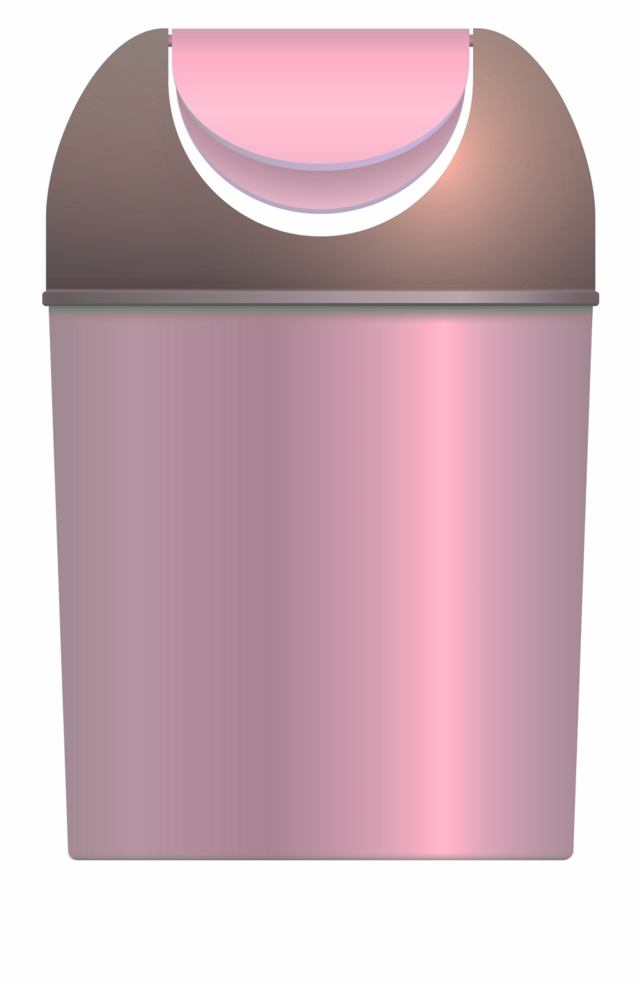 Garbage Can Vector Png Transparent Image.