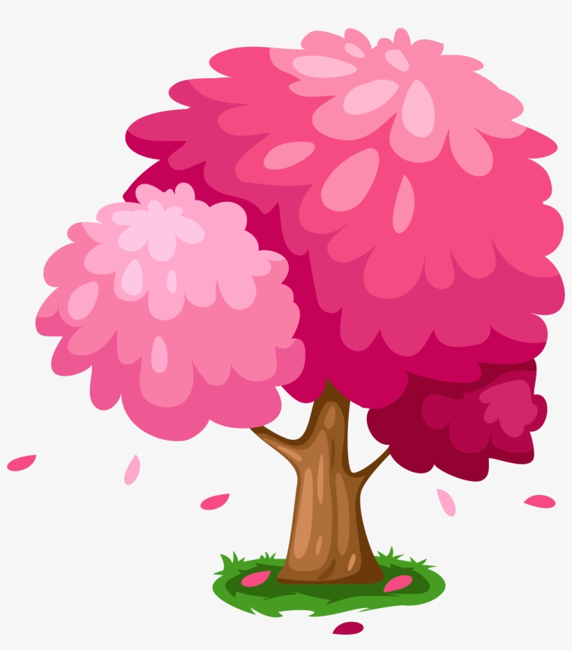 Cute Pink Spring Tree Clipart.
