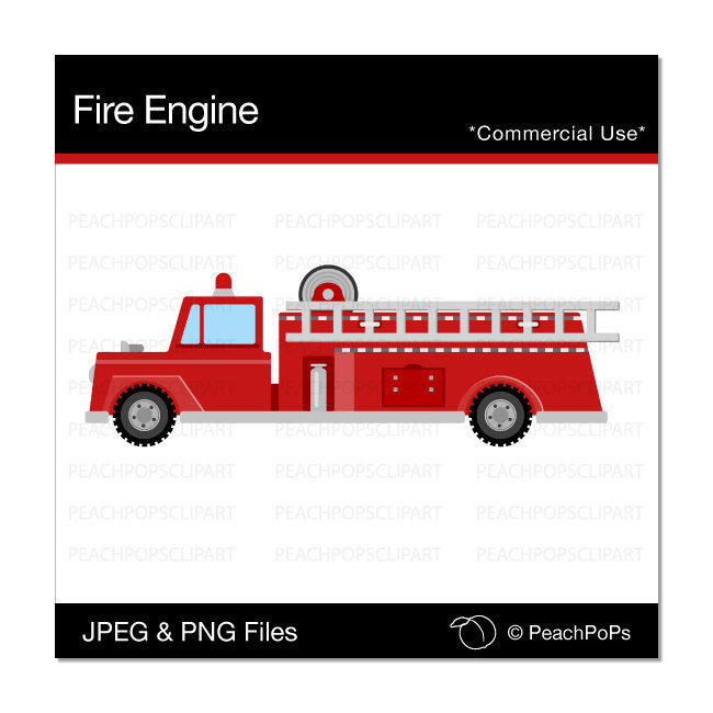 cute Fire Engine clipart fire engine digital clip art cute.