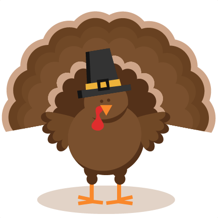 Thanksgiving Turkey Clipart Silhouette.