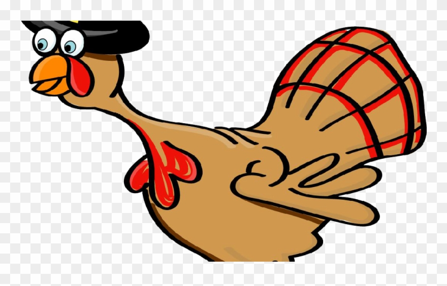 Thanksgiving Silly Turkey Drawing Clipart.
