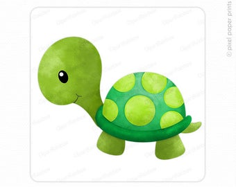 Cute turtle clipart.