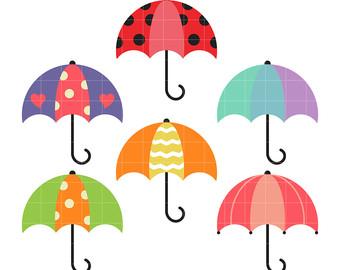 Umbrellas Clipart.