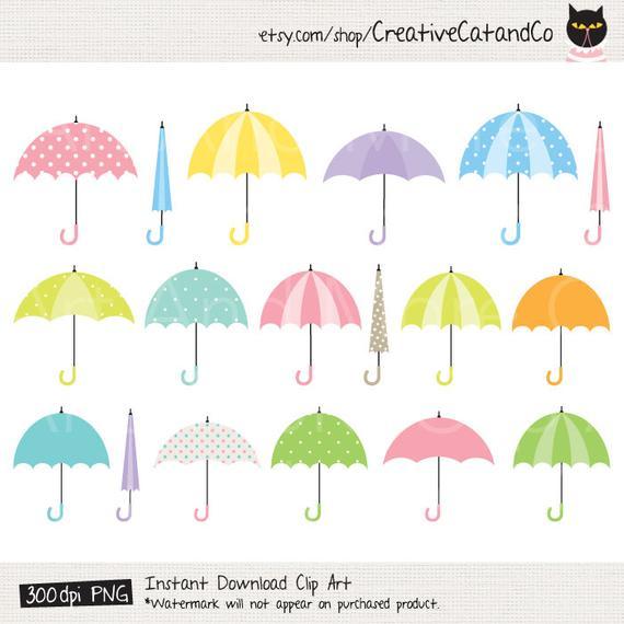 Umbrella Clipart Umbrella Clip Art Rainy Day Clipart Rainy Season Clipart  Cute Umbrella Shower Clipart Colorful Umbrella Clipart Clip Art.