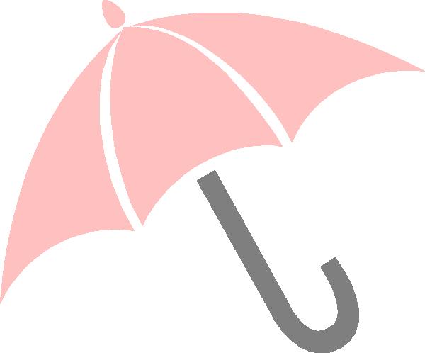 Pink Umbrella clip art.