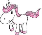 Cute Unicorn Clip Art.