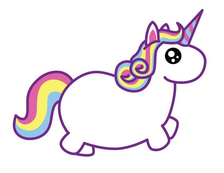 Cute unicorn clipart free.