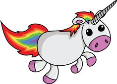 Cute Cartoon Unicorn.