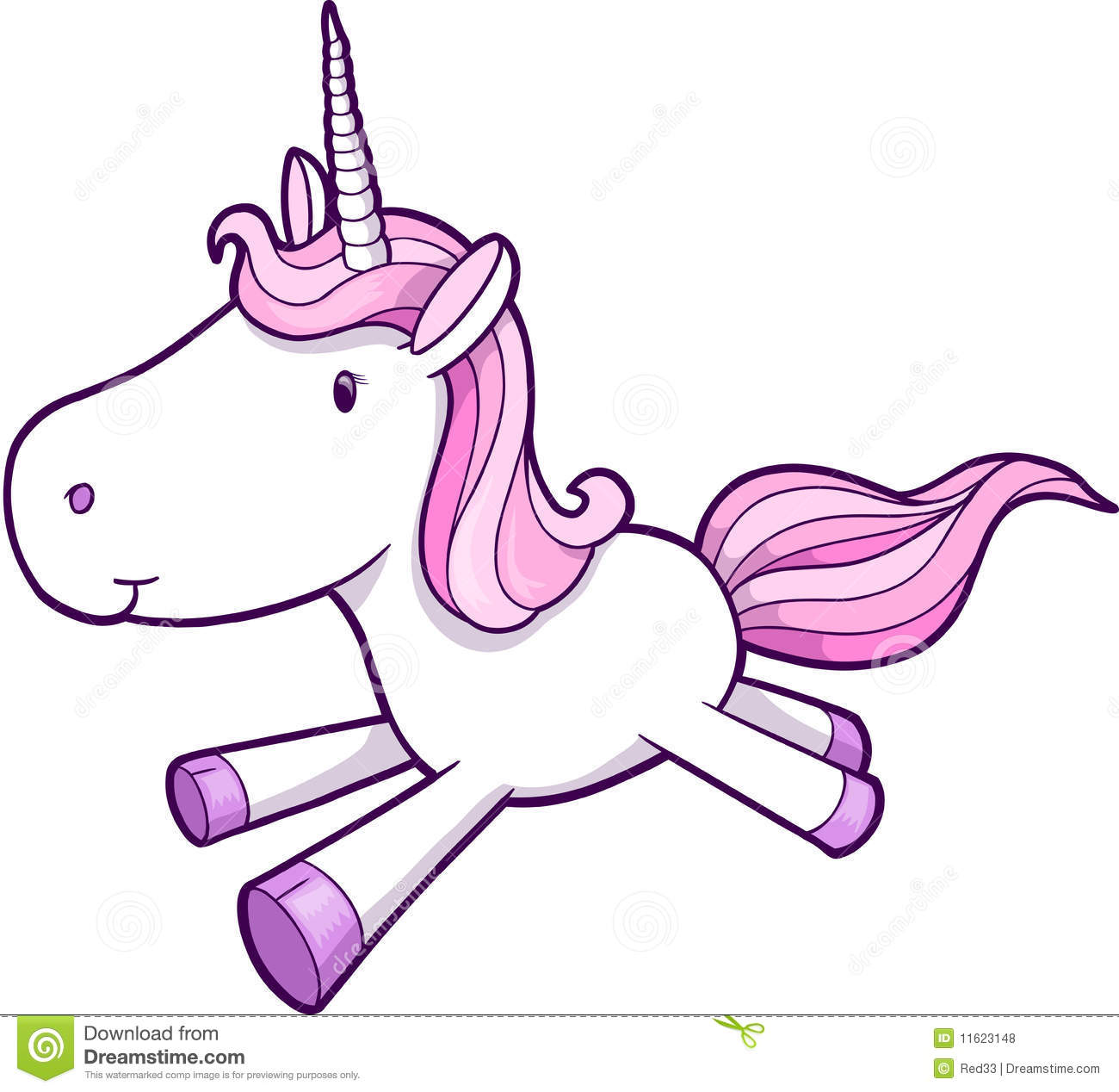 free cartoon unicorn clipart - photo #25