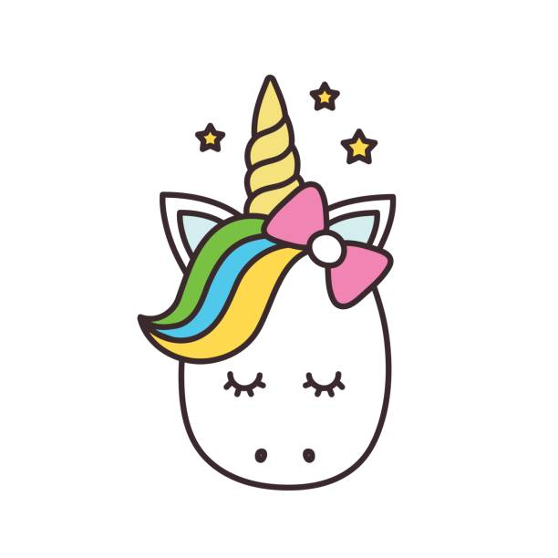 934 Unicorn Head free clipart.