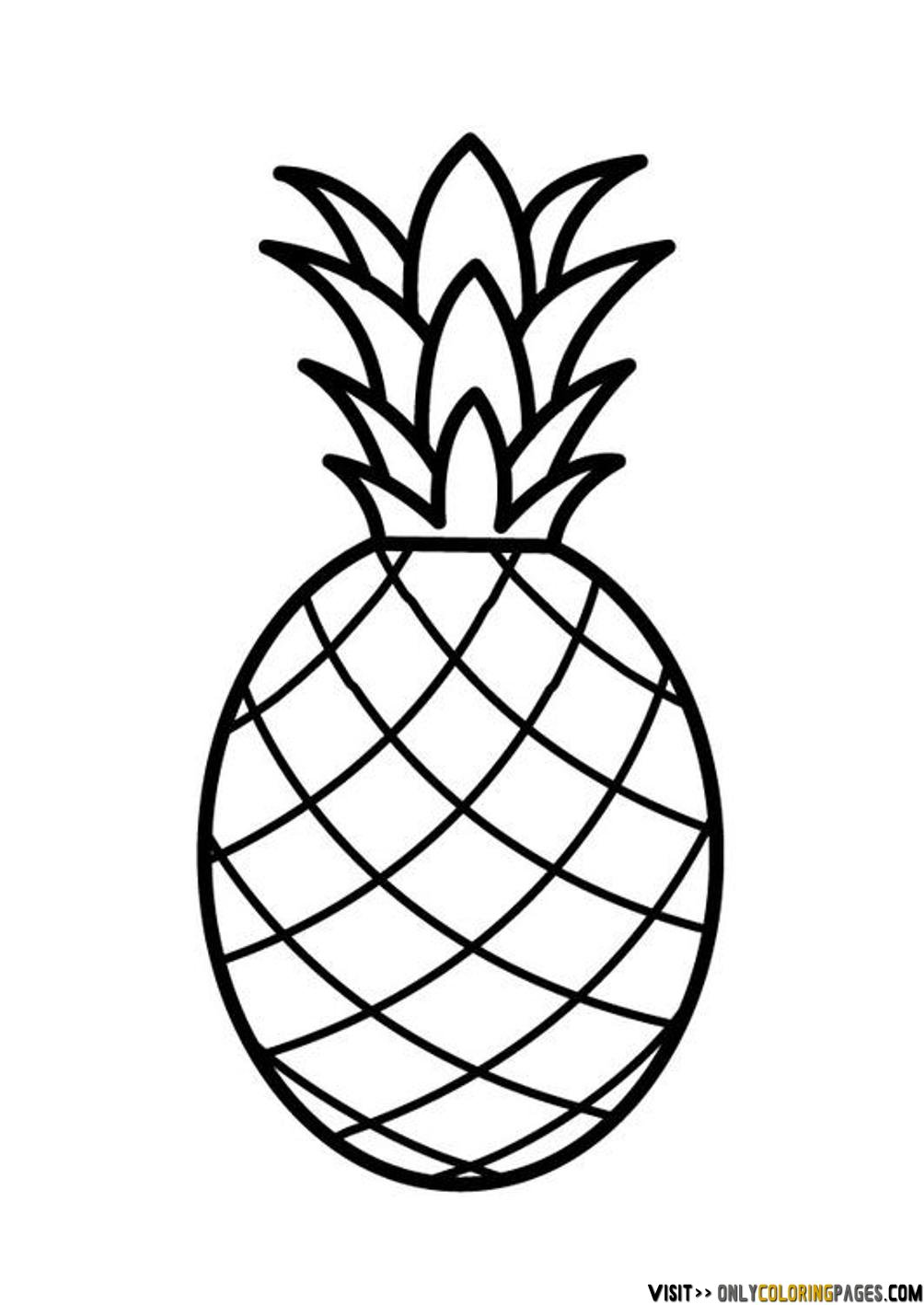 Outline Black And White Image Of A Pineapple Royalty Free Cliparts.