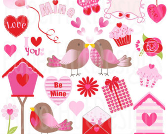 cute valentine animal clipart #1