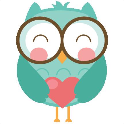 Cute Valentine Owl Clipart.
