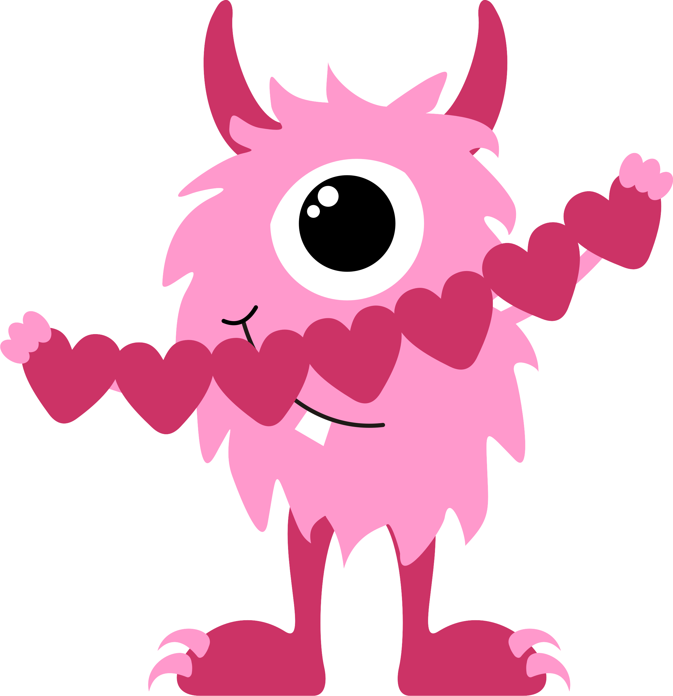 Photos of valentine monster clip art monster valentine.