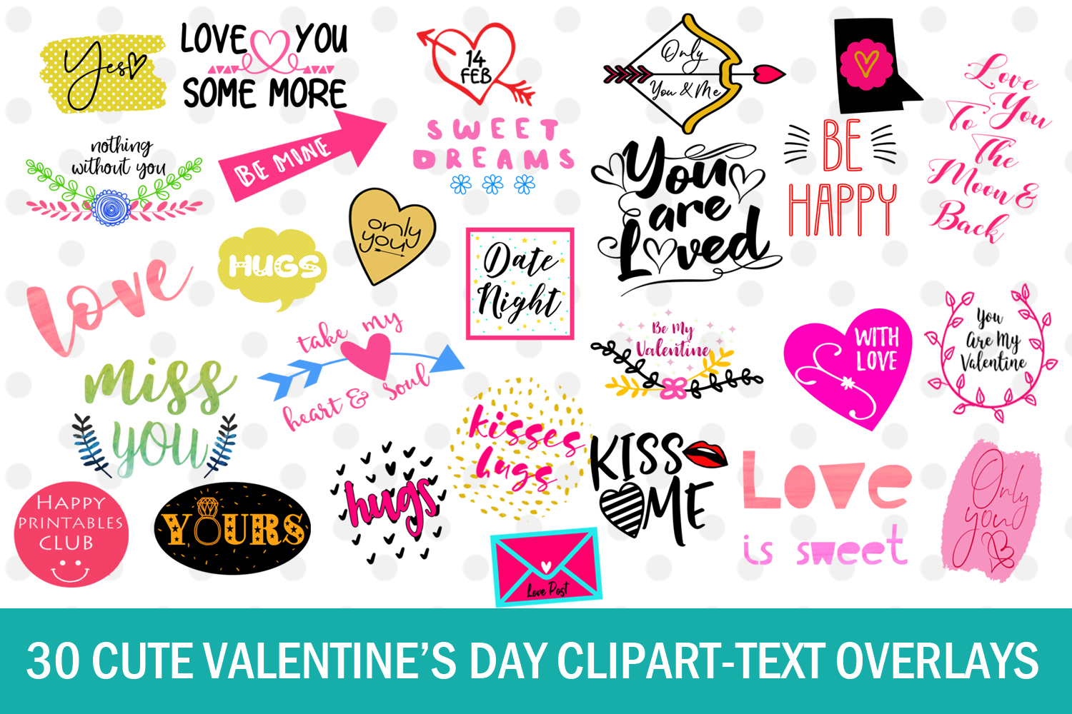 Cute Valentine's Day Clipart.