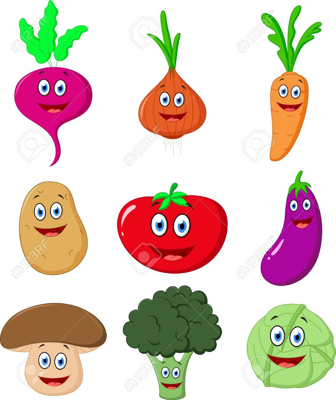 Cute Vegetable cartoon.