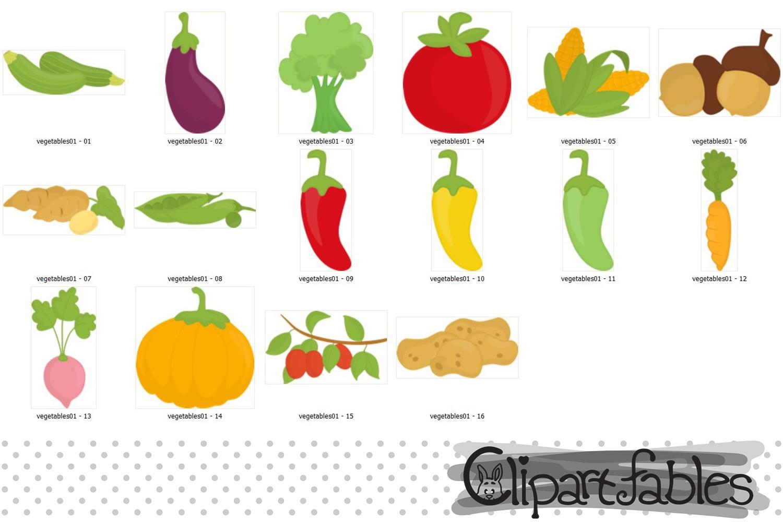 Cute Vegetables clipart.