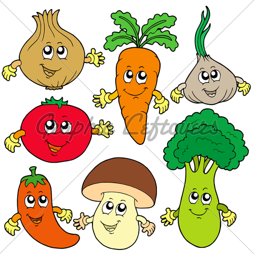 Vegetables with faces.