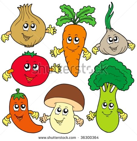 Vegetable Cartoon Stock Images, Royalty.
