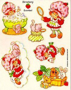 Vintage Baby Strawberry Shortcake Clip Art.