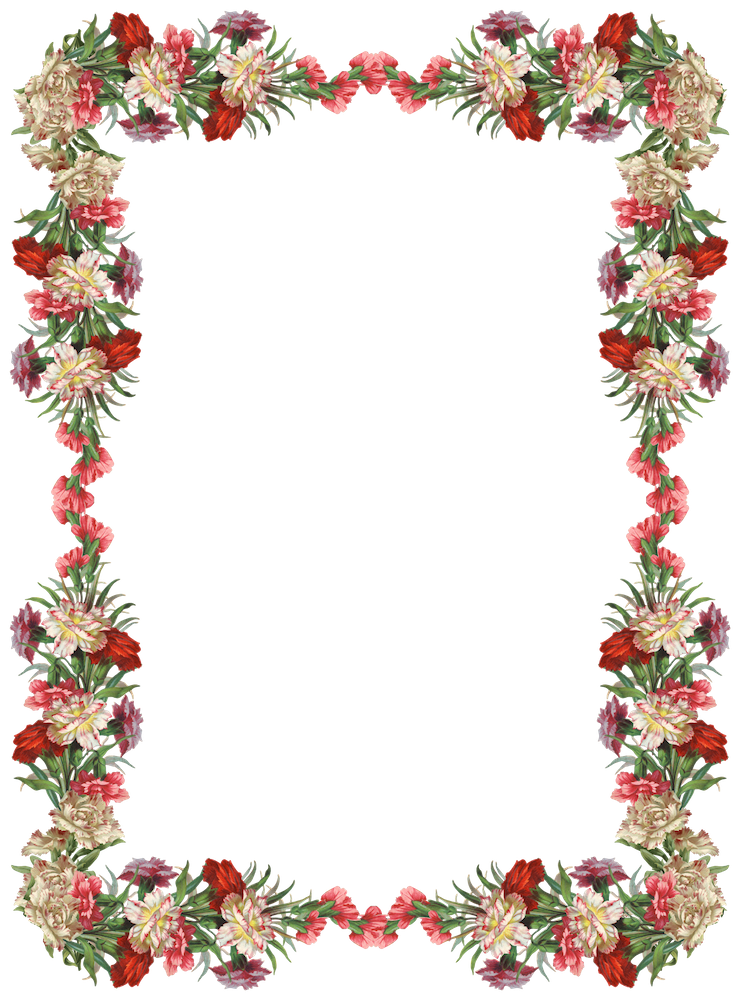 Chalk Transparent Border: Cute Vintage Frames Clipart Png