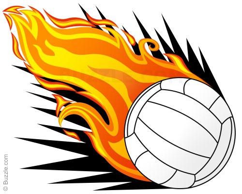 Funny volleyball clipart.