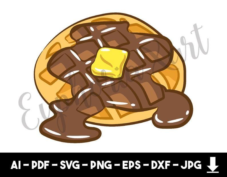 Waffle svg, waffle clipart, pancake svg, pancake clipart.