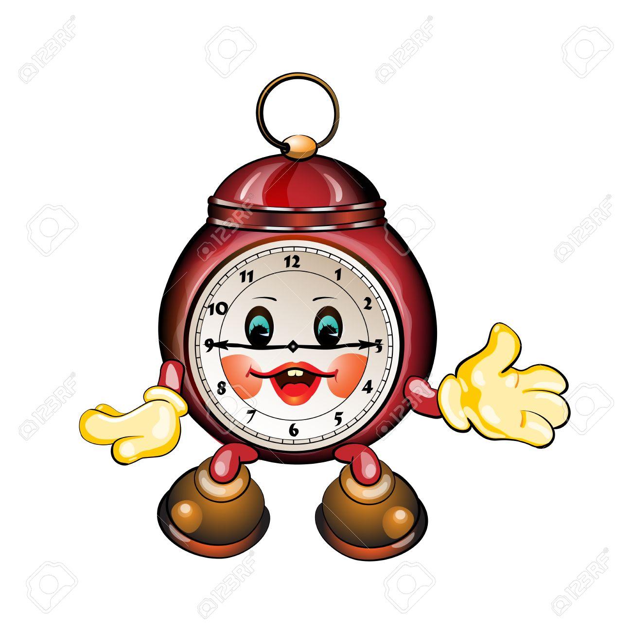 Cute Cartoon Clock Royalty Free Cliparts, Vectors, And Stock.