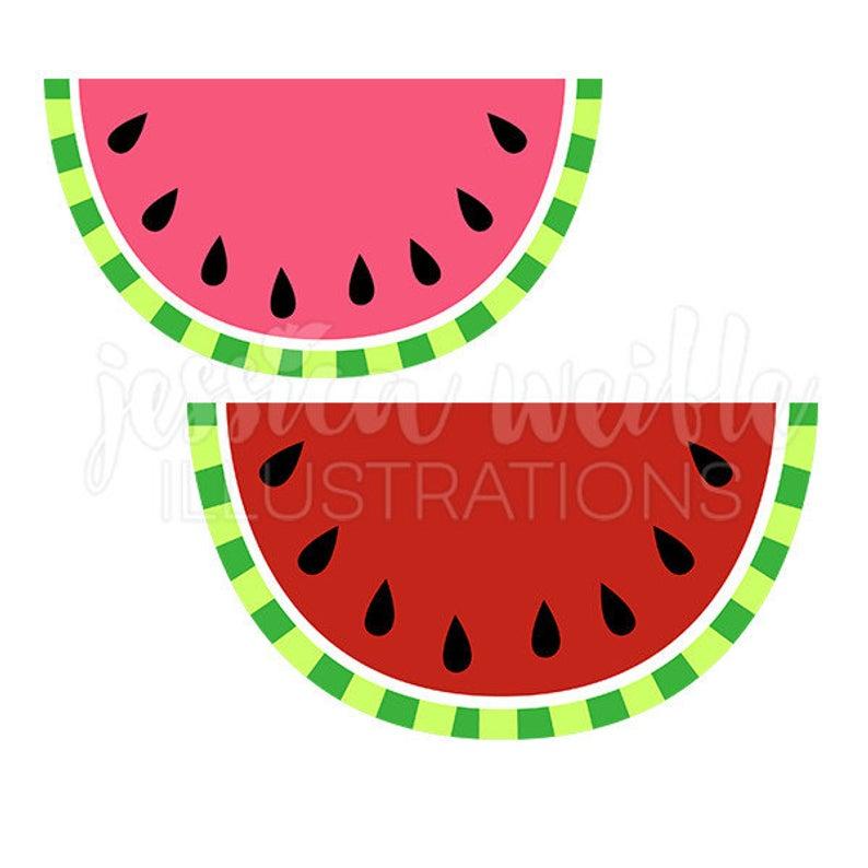 Watermelon Cute Digital Clipart, Cute Watermelon Clip art, Watermelon Fruit  Graphics, Pink and Red Watermelon Illustration, #098.