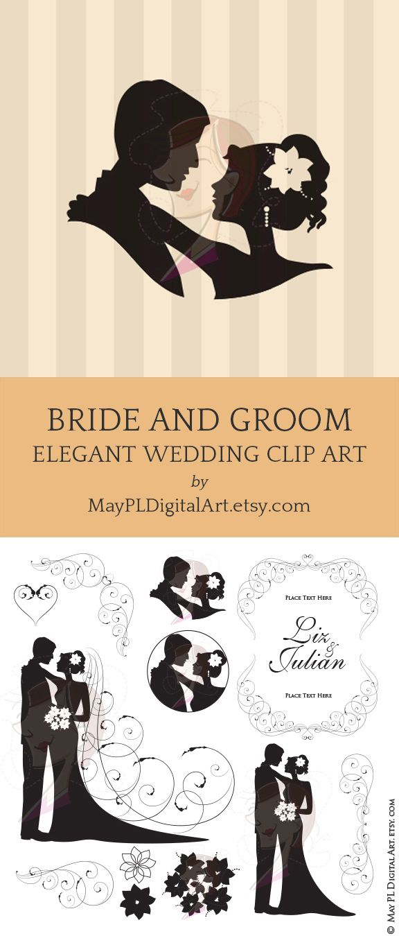 Bride Groom Clipart.