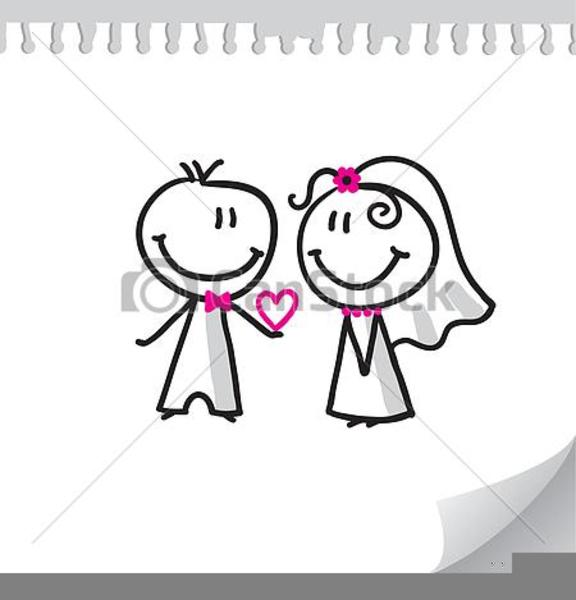 Free Wedding Couple Clipart.